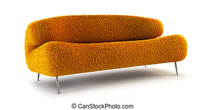 modern shaggy couch