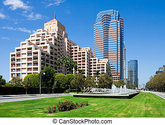 Century City, California - Office building in downtown...