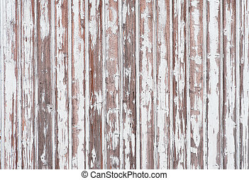 White wooden wall - Background of wooden wall with peeling...