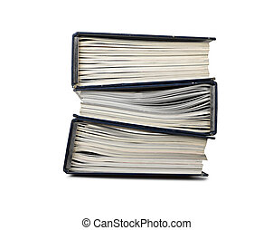 pile of file binder with a lot of documents clipping path...