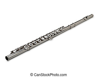 Flute Isolated on White clipping path