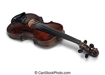 beautiful old wooden violin