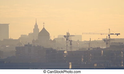 Moscow morning evening