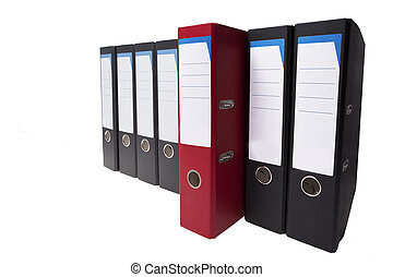 outstanding red ringbinder - a red ringbinder stands out, it...