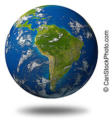 south-america-planet-earth - Earth planet featuring South...
