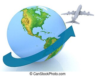 vacation airplane clip art - photo #20