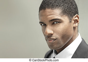 Young serious man - Portrait of a good looking handsome...