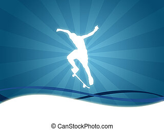 skate sport background - Illustration of a skater