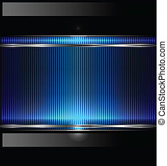 Technology background with metallic banner. vector.