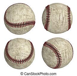 4 grunge baseballs