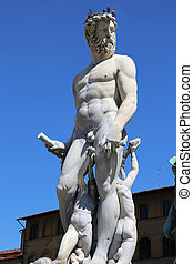 Neptune Fountain Florence - the Neptune Fountain in...