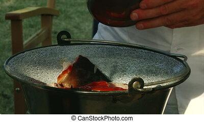 River fish, tomato