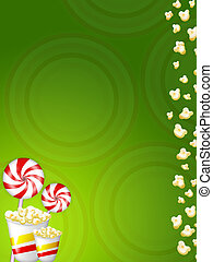 lolly candy popcorns - Illustration of lollypop, candies and...
