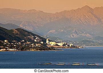 Ajaccio city in Corsica - France