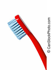 Colored toothbrush isolated on white background