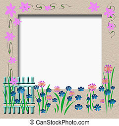 garden fence frame - garden fence flowers and vines border...