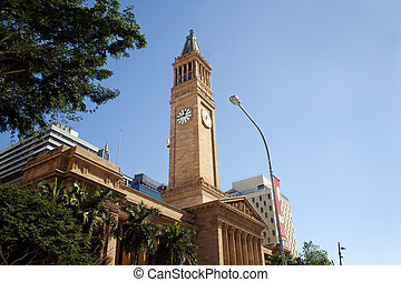 Brisbane City Hall - Historic Brisbane City Hall located in...