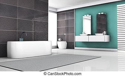 Bathroom Interior - Interior of a contemporary bathroom...