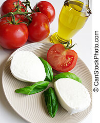 Tomatoes And Mozzarella - Genuine Italian tomatoes,...