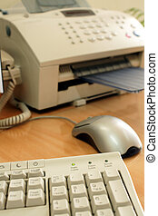 Office equipment including fax machine, keyboard and mouse