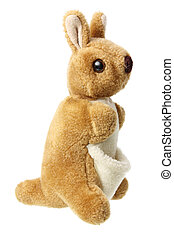 Kangaroo Soft Toy on White Background