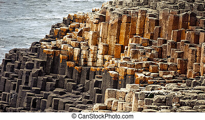 Giant coastway - Giant's Causeway in Irland is a landscape...