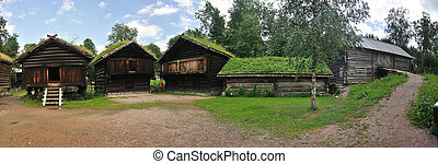 Old Norwegian Farm House (fra Telemark), Oslo, Norway