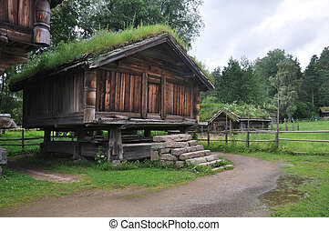 Old Norwegian Farm House fra Telemark, Oslo, Norway - This...