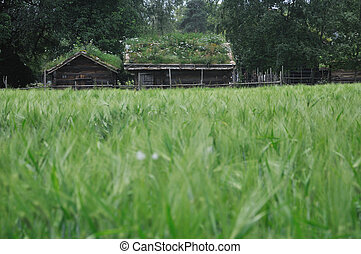 Old Norwegian Farm House (fra Telemark), Oslo, Norway - This...
