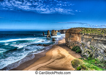 Twelve Apostles - HDR west view of the Twelve Apostles