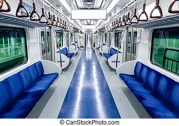 subway train seat - korean subway train interior