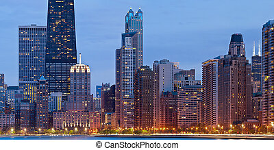 Chicago Skyline. - Image of the Chicago downtown lakefront...