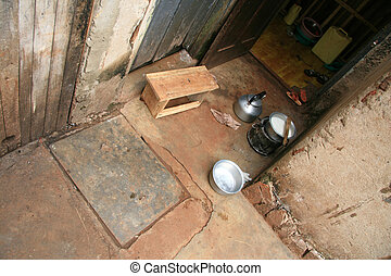 Simple Cooking Area - House - Jinja - Uganda, Africa -...