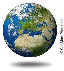 Planet Earth With Europe - Planet Earth featuring Europe and...