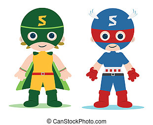superheroes kids - female and male superheroes kids...
