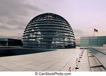 Reichstag dome - The outside of the Reichstag dome (german...