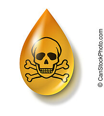 Toxic Chemical Drop - Toxic chemical drop symbol...