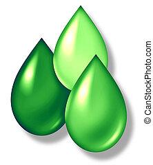 Green Drops Symbol - Green drops symbol representing...