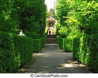 Park sanssouci - This large park surrounds the sanssouci...