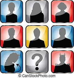 People avatars - Vector of people avatars with girls, boys...