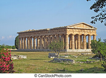 evocative and ancient Greek temple and a well preserved...