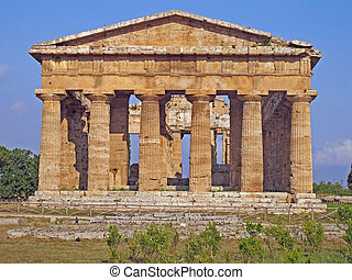 splendid ancient Greek columns of the temple very well...