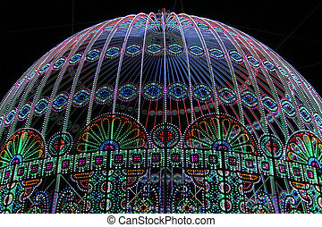 Holiday lights - The dome decorated with festive lights