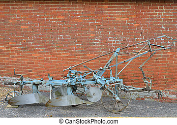 Old fashioned plough