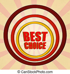 best choice red 3d text and circles