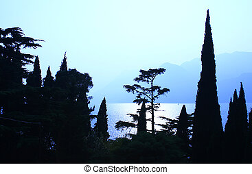 evening mood at Lake Garda, Italy
