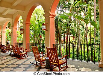 Relaxing porch in the tropics 2