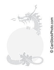 Chinese dragon - Illustration of a hand drawing chinese...