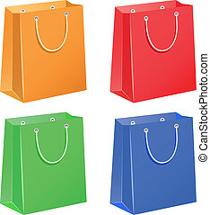 Paper bags - The four color paper bags
