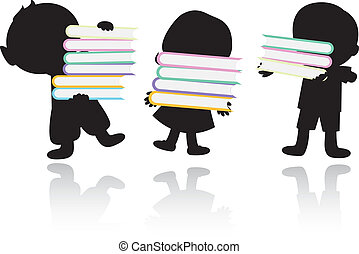 happy children schooland books background - happy...